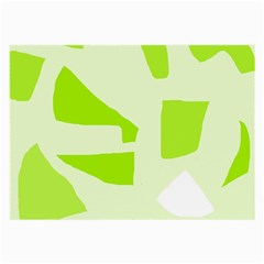Green abstract design Large Glasses Cloth