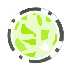 Green abstract design Poker Chip Card Guards