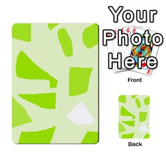 Green abstract design Multi-purpose Cards (Rectangle)