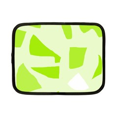 Green abstract design Netbook Case (Small)