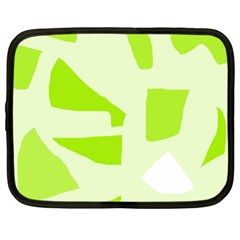 Green abstract design Netbook Case (XL)