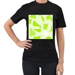 Green abstract design Women s T-Shirt (Black)