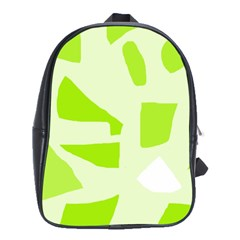 Green abstract design School Bags(Large)