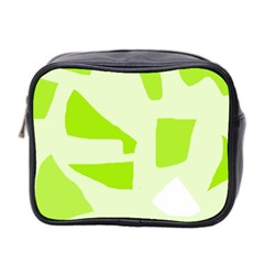 Green abstract design Mini Toiletries Bag 2-Side