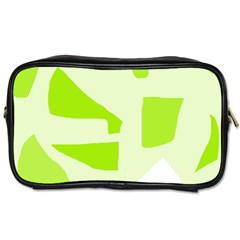 Green abstract design Toiletries Bags