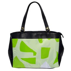 Green abstract design Office Handbags