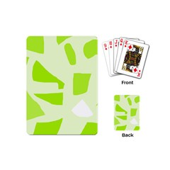 Green abstract design Playing Cards (Mini)
