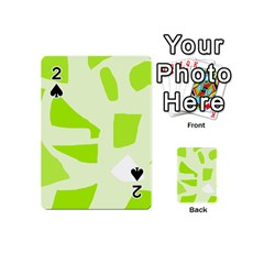 Green abstract design Playing Cards 54 (Mini)