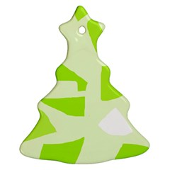 Green abstract design Christmas Tree Ornament (2 Sides)