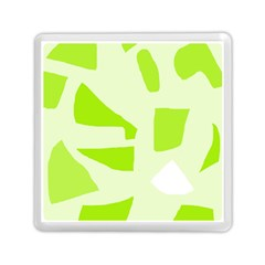 Green abstract design Memory Card Reader (Square)