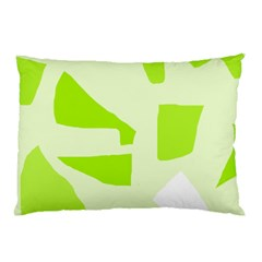 Green abstract design Pillow Case (Two Sides)