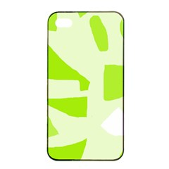Green abstract design Apple iPhone 4/4s Seamless Case (Black)