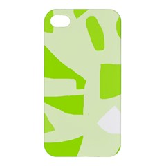Green abstract design Apple iPhone 4/4S Hardshell Case