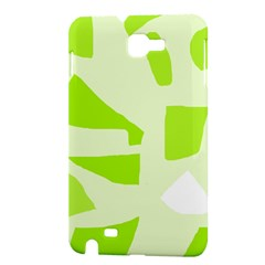 Green abstract design Samsung Galaxy Note 1 Hardshell Case