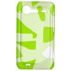 Green abstract design HTC Incredible S Hardshell Case