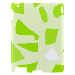 Green abstract design Apple iPad 2 Hardshell Case