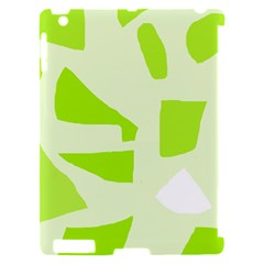 Green abstract design Apple iPad 2 Hardshell Case (Compatible with Smart Cover)