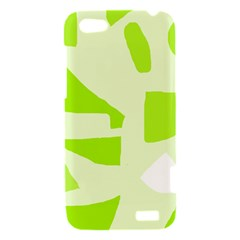 Green abstract design HTC One V Hardshell Case