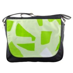 Green abstract design Messenger Bags