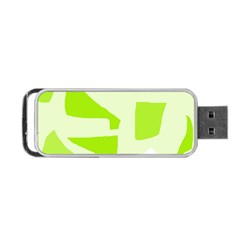 Green abstract design Portable USB Flash (Two Sides)
