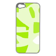Green abstract design Apple iPhone 5 Case (Silver)