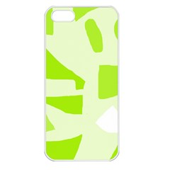 Green abstract design Apple iPhone 5 Seamless Case (White)