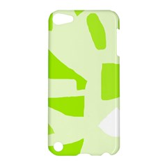 Green abstract design Apple iPod Touch 5 Hardshell Case