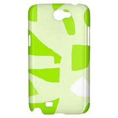 Green abstract design Samsung Galaxy Note 2 Hardshell Case