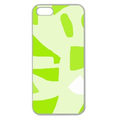 Green abstract design Apple Seamless iPhone 5 Case (Clear)