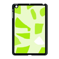 Green abstract design Apple iPad Mini Case (Black)