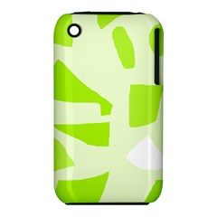 Green abstract design Apple iPhone 3G/3GS Hardshell Case (PC+Silicone)