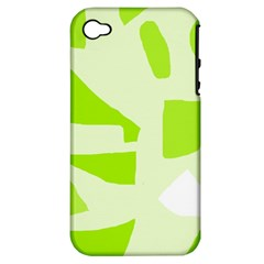 Green abstract design Apple iPhone 4/4S Hardshell Case (PC+Silicone)