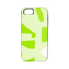 Green abstract design Apple iPhone 5 Classic Hardshell Case (PC+Silicone)