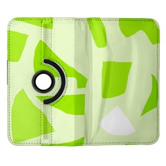 Green abstract design Samsung Galaxy Note II Flip 360 Case