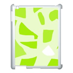 Green abstract design Apple iPad 3/4 Case (White)
