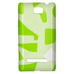 Green abstract design HTC 8S Hardshell Case
