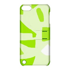 Green abstract design Apple iPod Touch 5 Hardshell Case with Stand