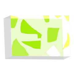 Green abstract design 4 x 6  Acrylic Photo Blocks