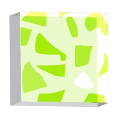 Green abstract design 5  x 5  Acrylic Photo Blocks