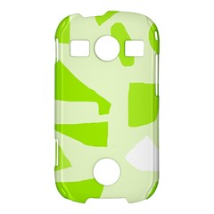 Green abstract design Samsung Galaxy S7710 Xcover 2 Hardshell Case