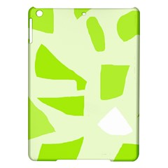 Green abstract design iPad Air Hardshell Cases