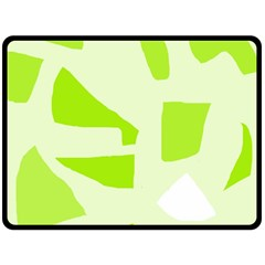 Green abstract design Double Sided Fleece Blanket (Large)