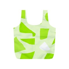 Green abstract design Full Print Recycle Bags (S)