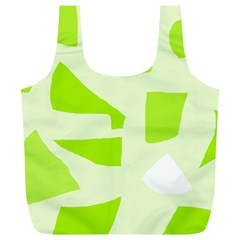 Green abstract design Full Print Recycle Bags (L)