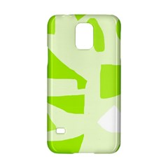 Green abstract design Samsung Galaxy S5 Hardshell Case