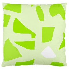 Green abstract design Large Flano Cushion Case (One Side)