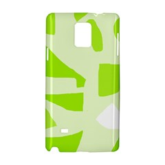 Green abstract design Samsung Galaxy Note 4 Hardshell Case