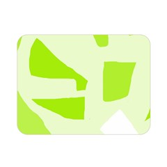 Green abstract design Double Sided Flano Blanket (Mini)