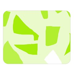 Green abstract design Double Sided Flano Blanket (Large)