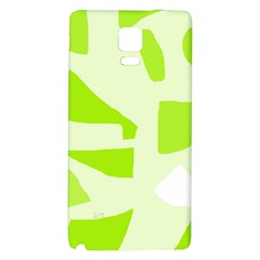 Green abstract design Galaxy Note 4 Back Case